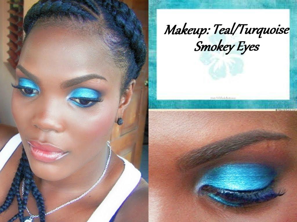 Makeup Tutorial Tealturquoise Smokey Eyes Jamaican Videos