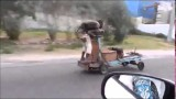 Only in Jamaica…A motorized push cart speeding on the road.