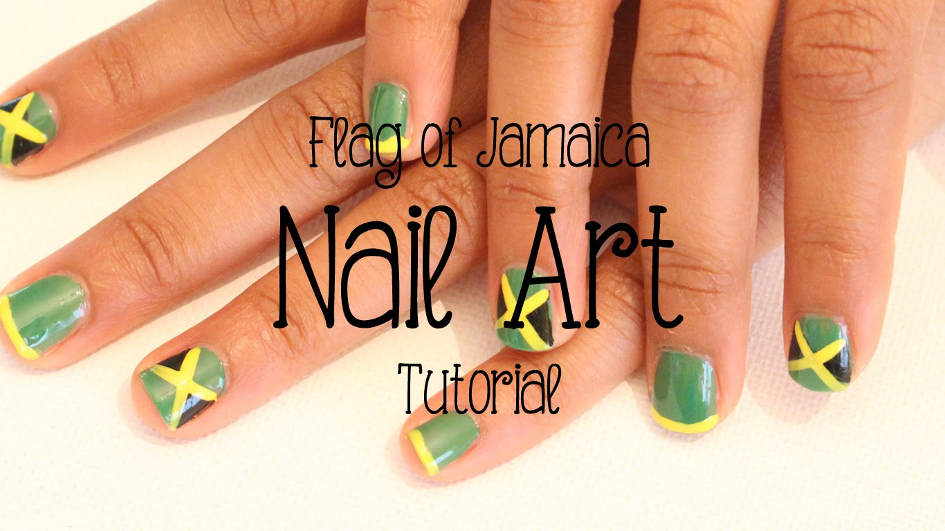 Jamaican Flag Kids Nail Art Tutorial - Jamaican Videos