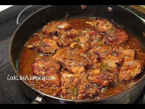 jamaican brown stew chicken recipe video   jamaican videos