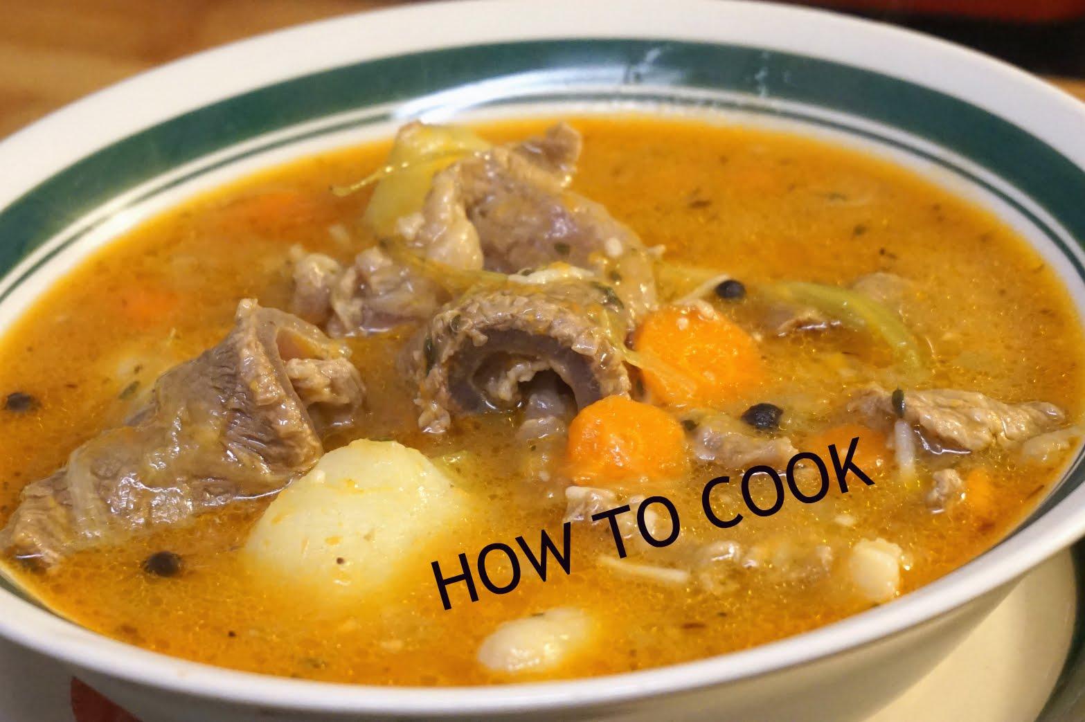 cook jamaican beef soup