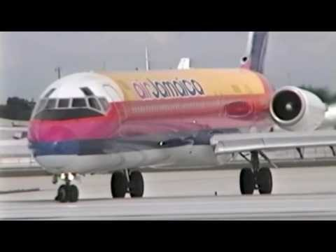 VIDEO: Air Jamaica planes at the Miami Airport (1993-2002)