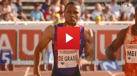 Andre De Grasse ran 9.69 in 100 metre race