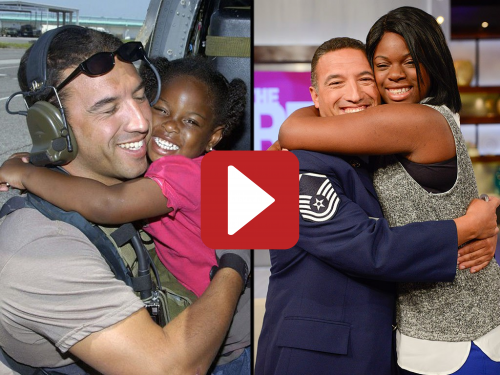 VIDEO: Little girl rescued from Hurricane Katrina takes US Air Force rescuer to high school dance