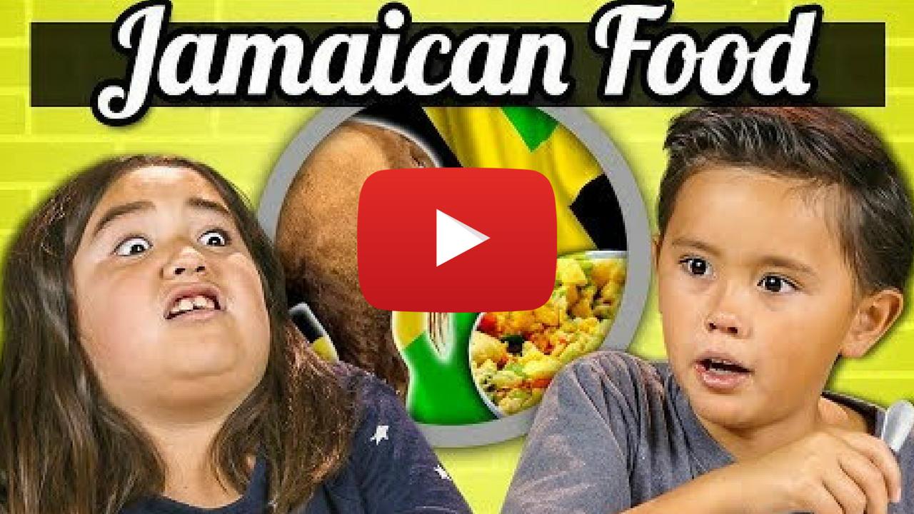 kids try jamaican food