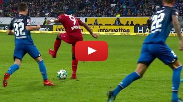 Jamaica Leon Bailey scores an amazing lovely back-heel goal for Leverkusen