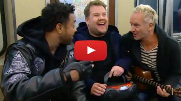 New York City Hates Sting Shaggy James Corden Subway Carpool Karaoke