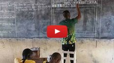 Teacher in Ghana who used blackboard to explain computers gets surprise from Microsoft
