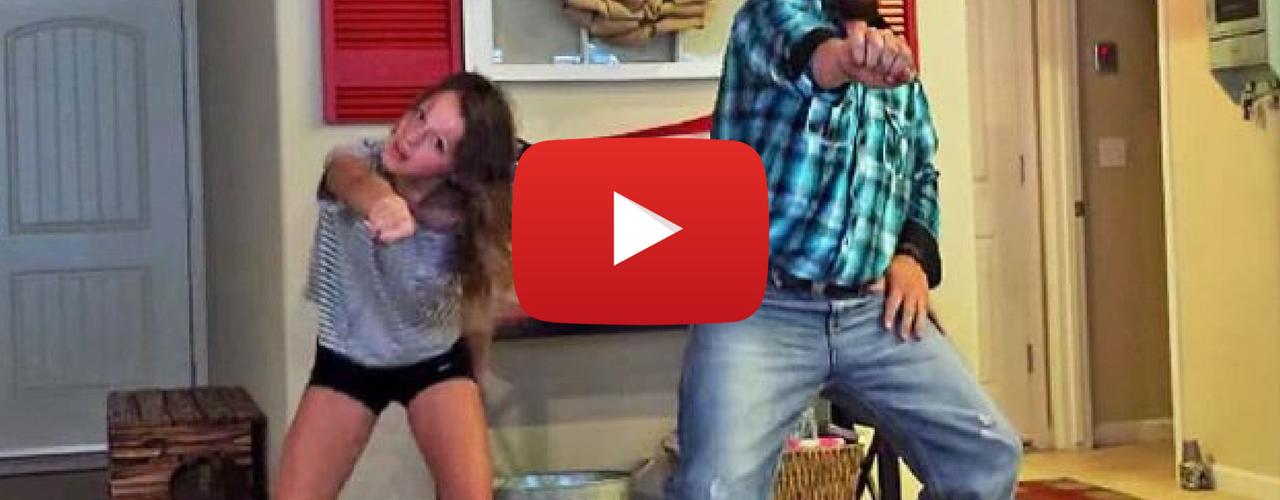 Cowboy Dad Walks In On Daughter Dancing