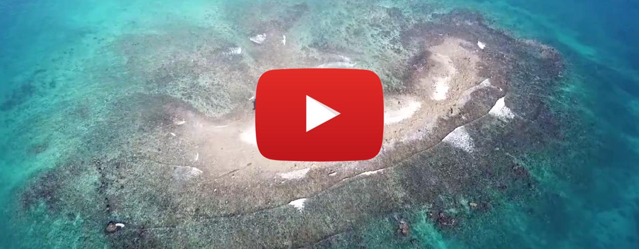 Drone shots of Gun Cay Port Royal Jamaica video