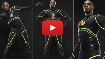 Usain Bolt unveils Jamaica-inspired costume